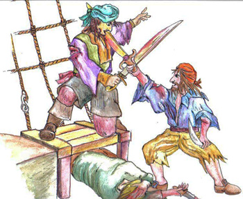 Pirates fighting